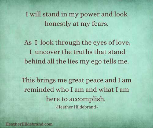 I will stand in my power quote by Heather Hildebrand